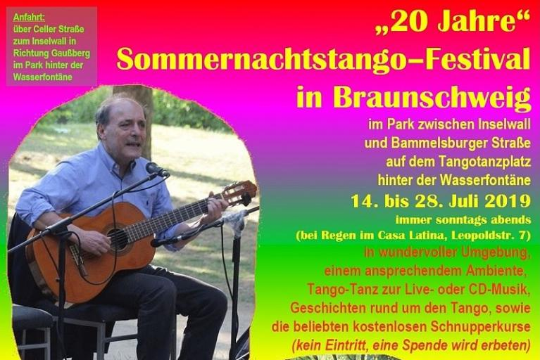 20 Jahre Sommernachtstango im Park am Inselwall