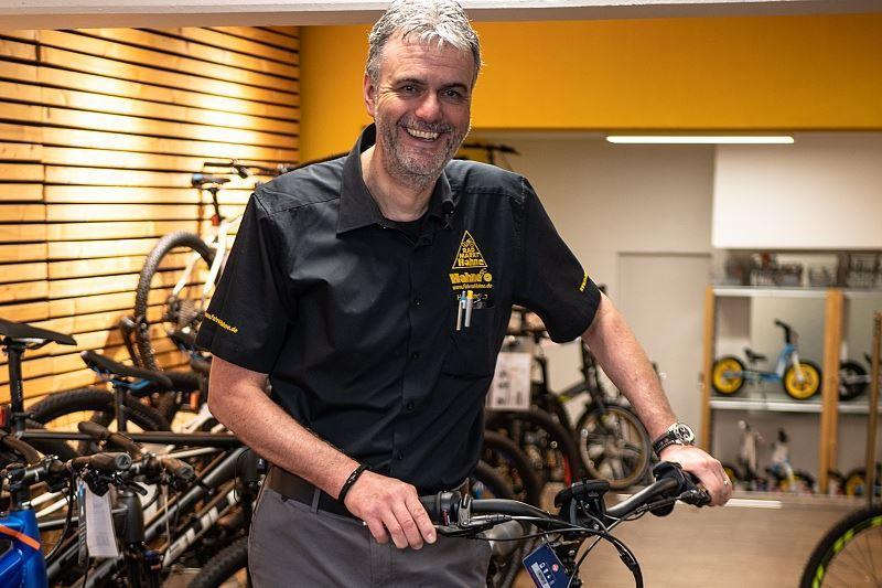 Geschäftsführer und Fahrradexperte Marc Katholing in der Braunschweiger Filiale.